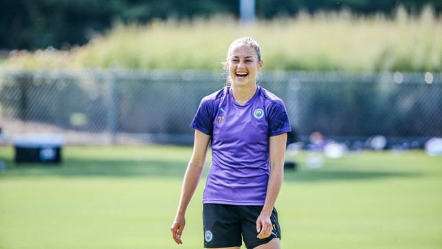 BUOYANT BECKIE : Janine Beckie is enjoying being back in the States