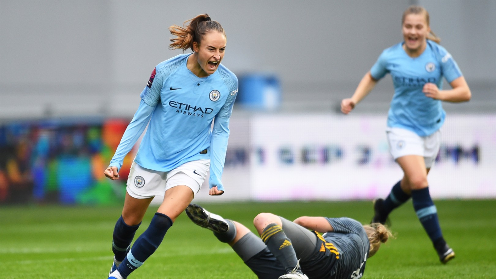 BELGIAN BLUE: Tessa Wullaert marked her competitive home debut with her first City goal