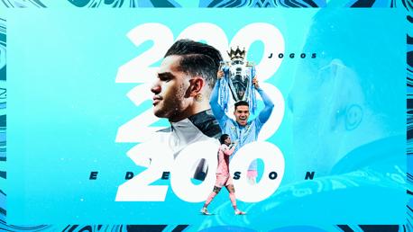 Ederson atinge 200 jogos pelo Manchester City