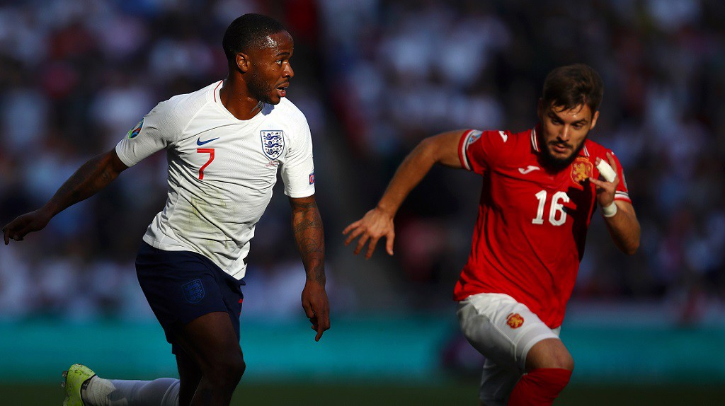 STERLING WORK, SIR : England's lionhearted forward