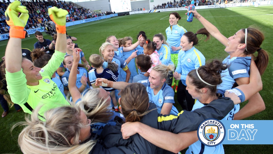 On this day: City win the FA WSL title!