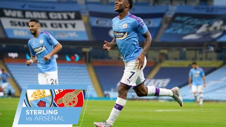 Sterling contra el Arsenal