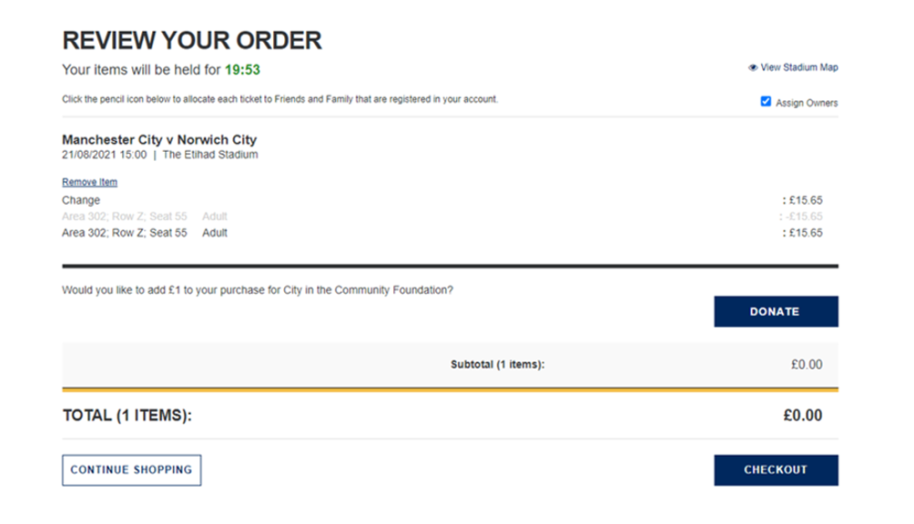 Ticket Transfer step 4
