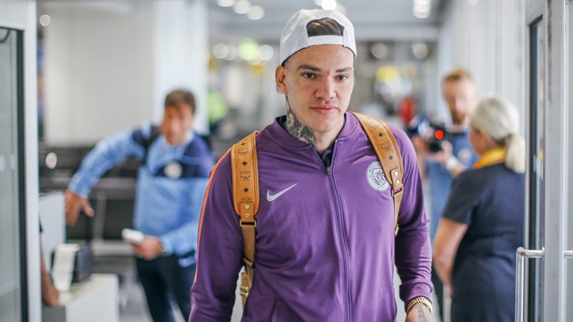 KEEPER : Ederson prepares to head to Germany.