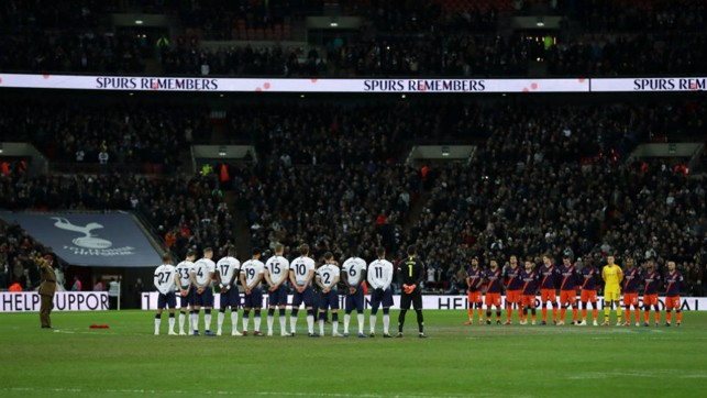 REMEMBRANCE : A minutes silence before kick-off.