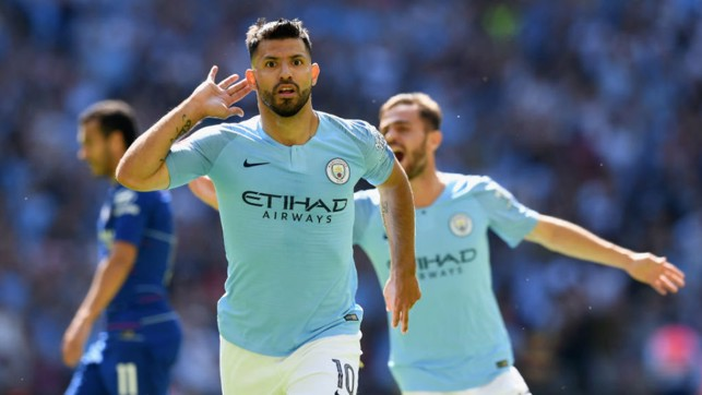 LANDMARK : Sergio Aguero creates another slice of history after claiming his 200th goal for City against Chelsea in the Community Shield