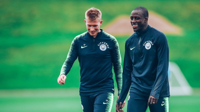 DUO : Kevin De Bruyne and Benjamin Mendy.