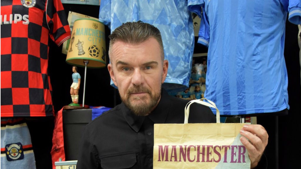 MEMORIES ARE MADE OF THIS : Billy Duffy with some of his City memorabilia
