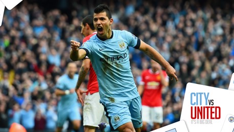 STAT ATTACK: Sergio Aguero has scored seven goals in ten Premier League games against United and eight in all competitions