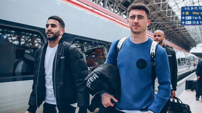 MAN OF THE MOMENT : Fresh from signing his new contract Aymeric Laporte, along with Riyad Mahrez, aims to complete a perfect weekend