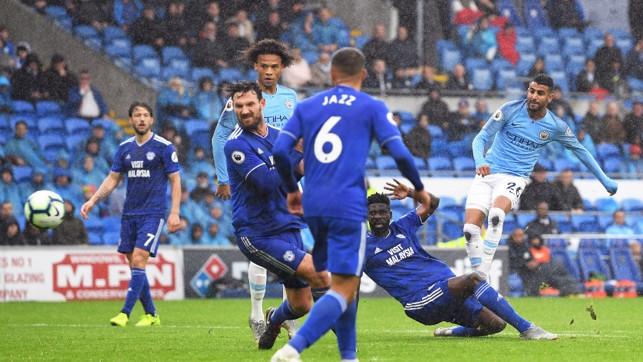 FIVE-STAR CITY : Riyad Mahrez scores his second and City's fifth