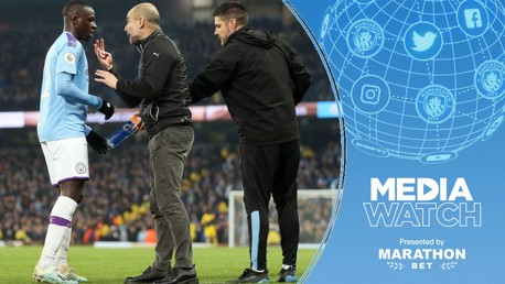 TALKING TACTICS: Pep Guardiola's decision to play thee at the back against Everton has been praised in the media.