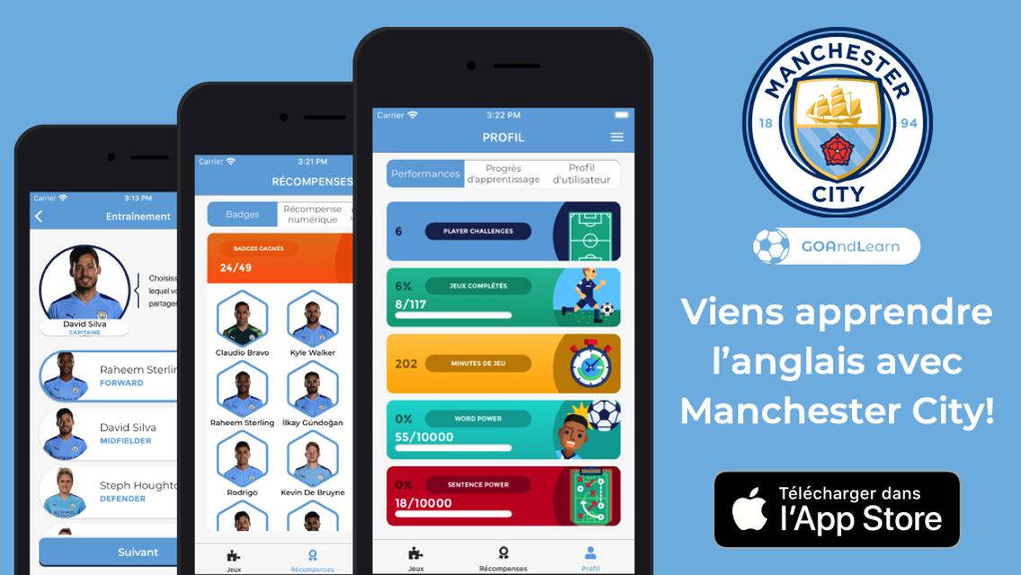 Apprenez l'anglais avec GO And Learn et les joueurs de Manchester City