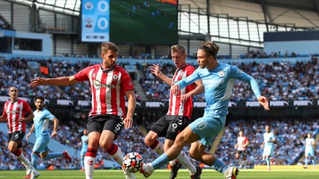 ON THE PROWL: Grealish looks to inspire City.