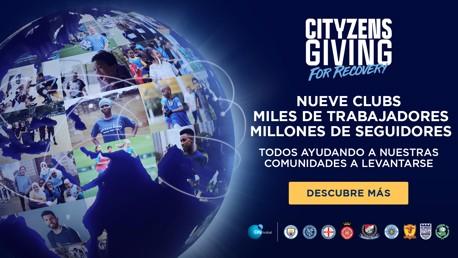 Cityzens Giving for recovery: Nueve clubs. Millones de fans. Ayudando comunidades