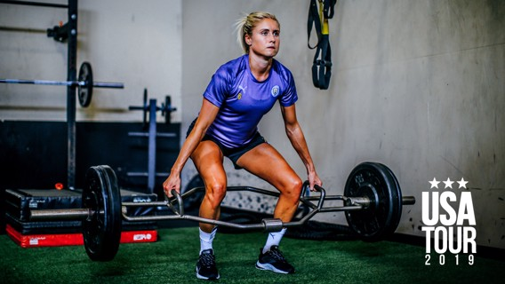 LEAD BY EXAMPLE: Strength and conditioning - skipper Steph Houghton style!