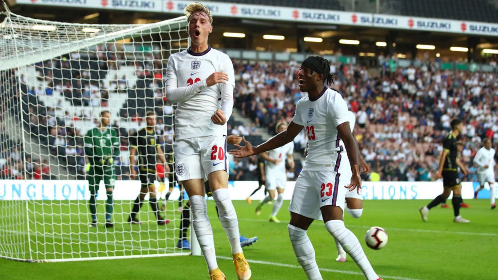 بالمر يسجل في مباراته الأولى مع منتخب إنجلترا تحت 21 عاما