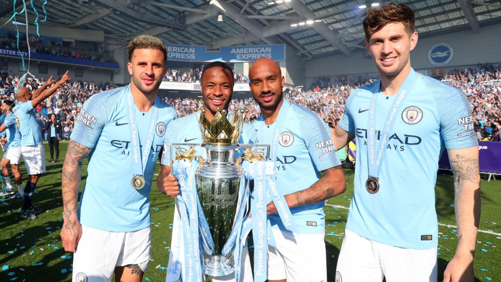 CHAMPS: City's England quartet.
