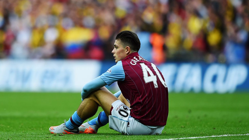 HEARTACHE: Jack plays the full 90 minutes as Aston Villa lose 4-0 to Arsenal in the 2015 FA Cup final