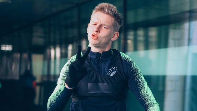 OLE OLE : Oleksandr Zinchenko throws a playful pose