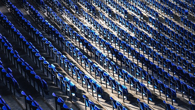 SEAT OF LEARNING: A different perspective of one of the Etihad's seating blocks