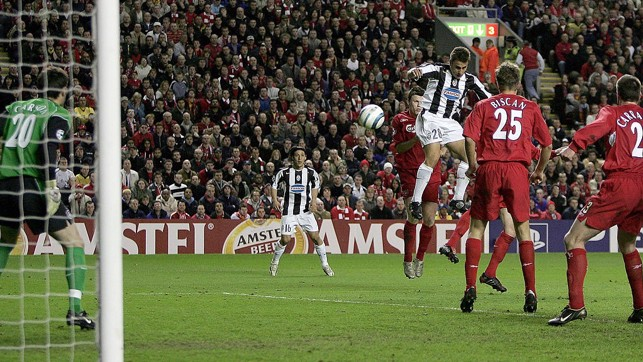 LIVERPOOL : Carson played in goal for Liverpool in their Champions League quarter final against Juventus