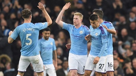 LEVELLER: Kevin De Bruyne equalises with a deflected effort