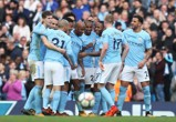 Manchester City 7-2 Stoke City 2017 group celebration.