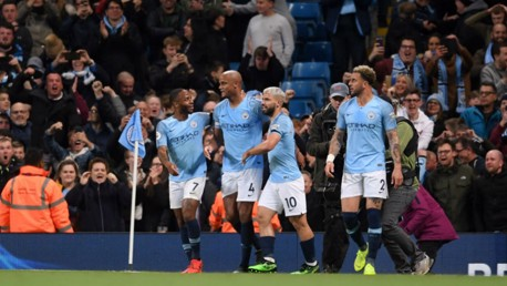 LEGEND: Vincent Kompany enhanced his status with a wonder goal in the win over Leicester