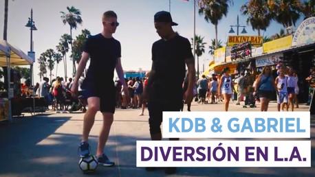 KDB & Gabriel Jesus: diversión en LA