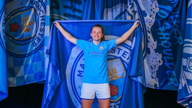 TRUE COLOURS : Tyler Toland is flying the flag for City