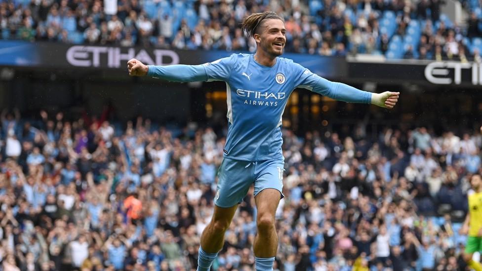 SUPER JACK : Jack's first goal for Manchester City!
