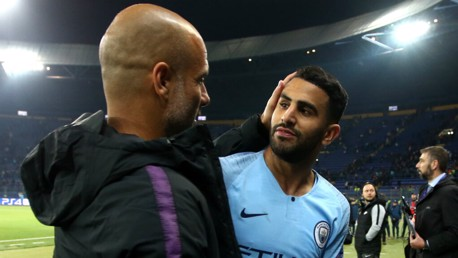 PROUD: Pep Guardiola praised Riyad Mahrez for his reaction, following a difficult 48 hours...