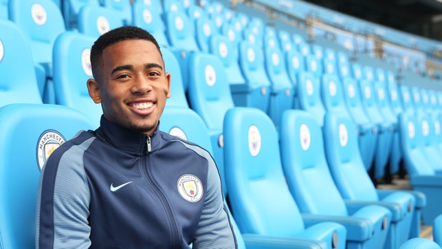 SIGNING : When Gabriel Jesus joined us back in January 2017.