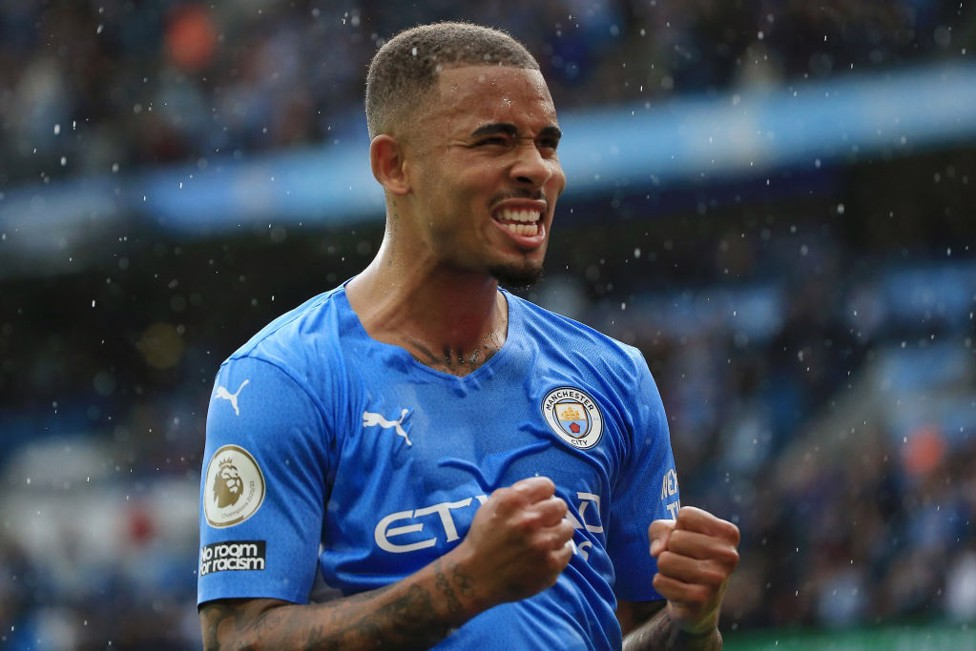 GAB-ULOUS : Gabriel Jesus celebrates a great afternoon as he provided three assists