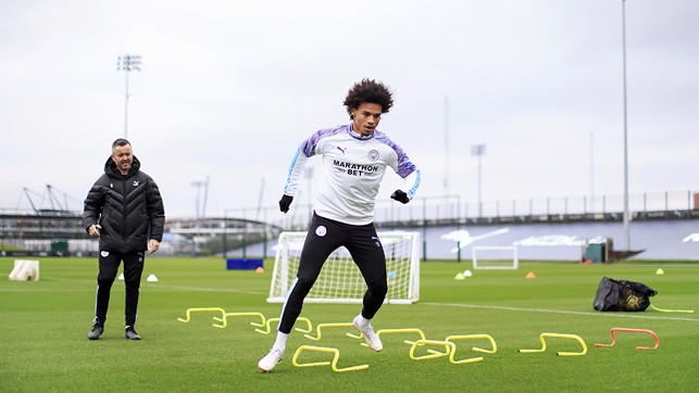 BEST FOOT FORWARD : Leroy Sane on the road to recovery at the CFA