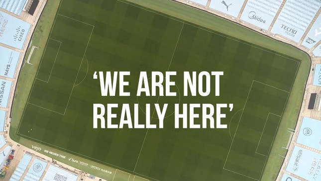 We're Not Really Here