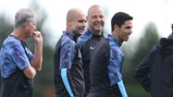 "MANAGER'S NOTES: Pep Guardiola has described setting trophy targets as ""ridiculous"" and says his only focus is on improving his players' performance level."