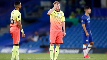 DISAPPOINTMENT: De Bruyne looks dejected at full-time.