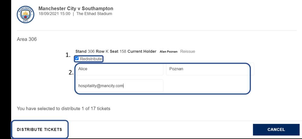 ticket Redistribution