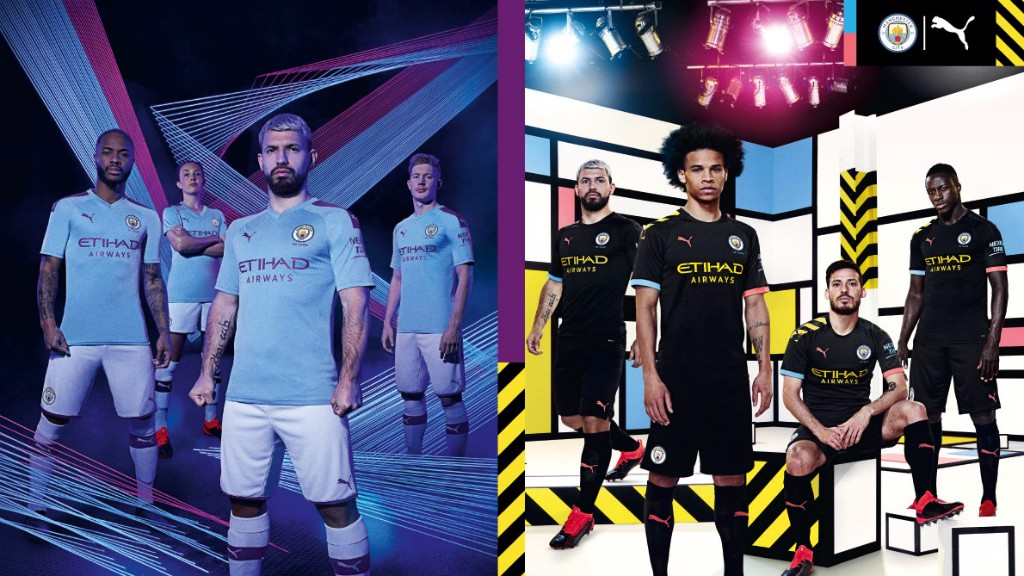 NEW KITS : Manchester City and PUMA today revealed their 2019/20 Home and Away kits, the first designs of their partnership, which pay tribute to Manchester's industrial and cultural heritage.