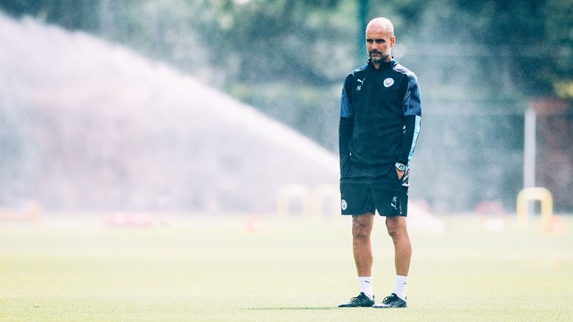 PEP : The gaffer, back and as ever, thinking