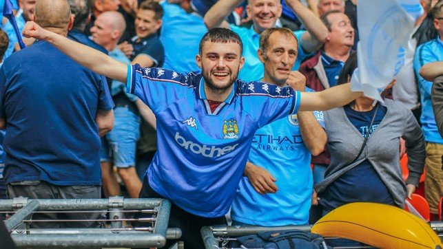 ARMS ALOFT : Wembley joy once again for the fans