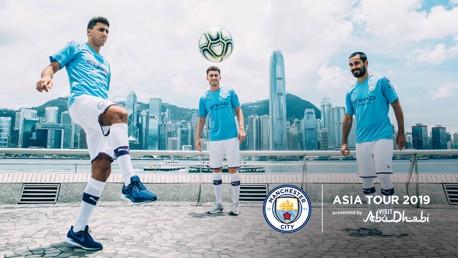 VIEWS: Ilkay Gundogan, Rodri and Aymeric Laporte during a tour of Hong Kong.
