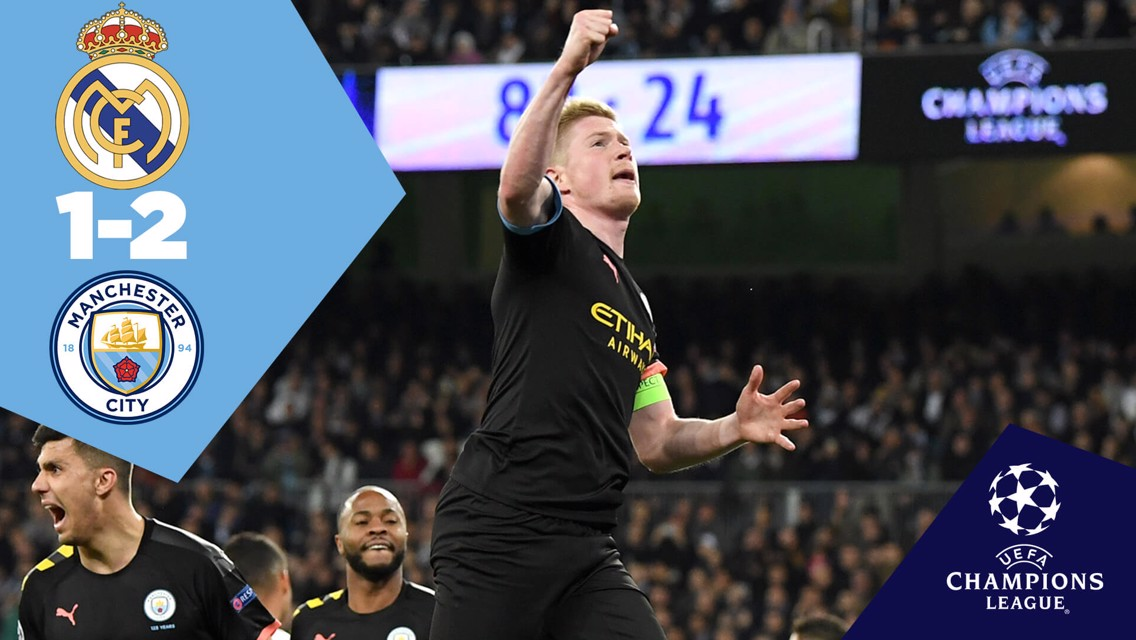 Real Madrid 1-2 City: Full match replay