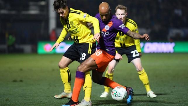 MIDFIELD BATTLE : Fabian Delph fights for possession