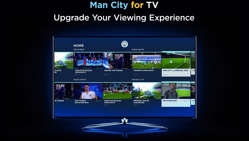 Man City for TV app launched
