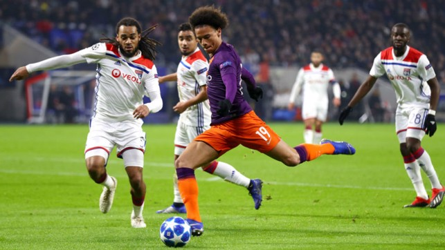 BY THE LEFT : Leroy Sane fires in a shot