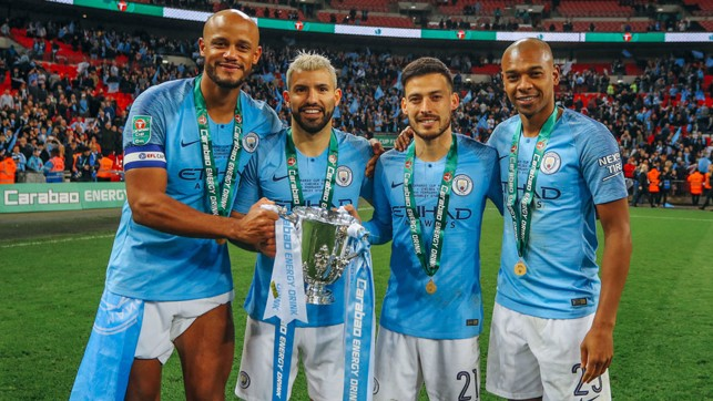 FANTASTIC FOUR : A quartet of greats with our fourth Carabao Cup of the decade.