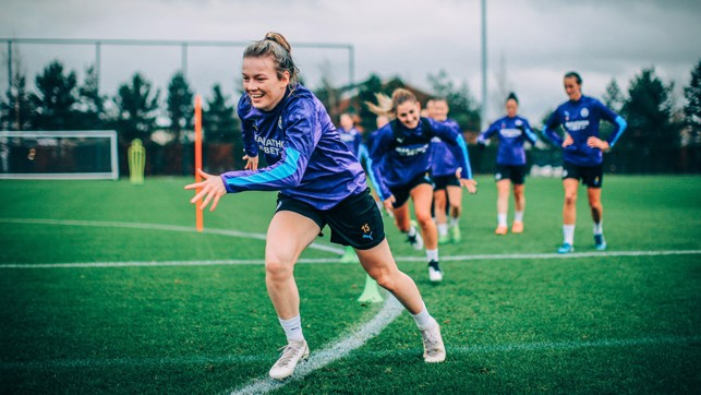 POWER PLAY : Lauren Hemp holds nothing back as City train their sights on Chelsea